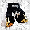 FIGHTERS - Thaibox Shorts / Elite Fighters / Schwarz-Weiss / Small